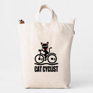 Cat Cyclist Duck Bag