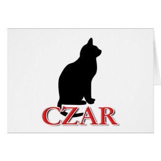 Cat Czar Greeting Card