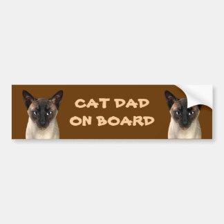 Cat Dad On Board Bumper Sticker