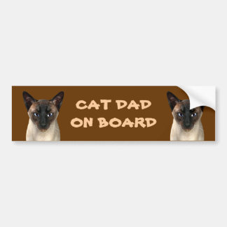 Cat Dad On Board Car Bumper Sticker