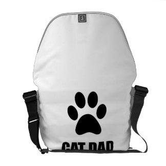 Cat Dad Paw Messenger Bag