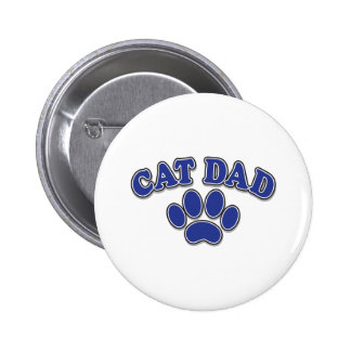 Cat Dad Pinback Button