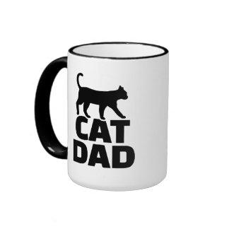 Cat dad ringer mug