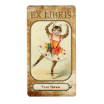 Cat Dance Book Plates Custom Shipping Labels