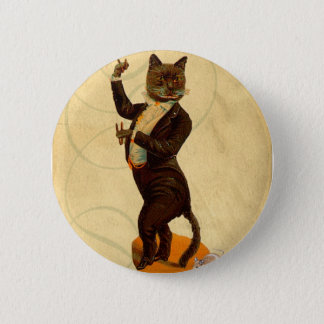Cat Dance Pinback Button