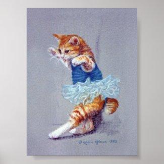 Cat Dancing Poster
