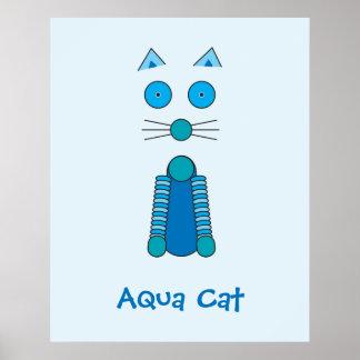 CAT de la aguamarina Posters