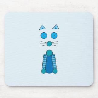 CAT de la aguamarina Tapete De Raton
