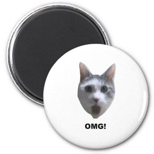 ¡CAT DE OMG! (qué lo tiene visto?) Imanes