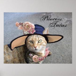 CAT DE PRINCESA TATUS /ELEGANT, GORRA GRANDE DE LA PÓSTER