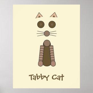 CAT de Tabby Poster