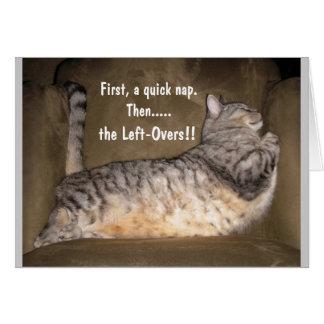 CAT del FAT, tomando una siesta Tarjeta De Felicitación