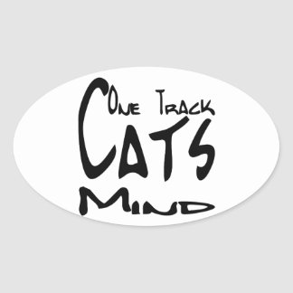 Cat Design for Cat Nuts Oval Sticker