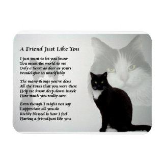 Cat Design friend Poem Magnet