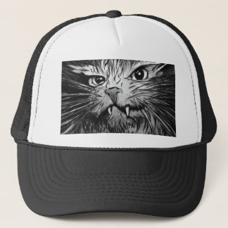 Cat Design T shirt Trucker Hat