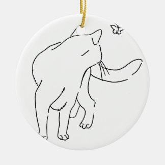 Cat Designs.jpg Ceramic Ornament