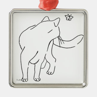 Cat Designs.jpg Metal Ornament