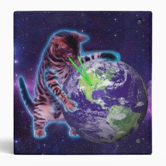 Cat destroying the world with eye laser binder