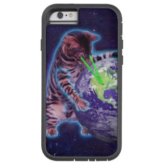 Cat destroying the world with eye laser tough xtreme iPhone 6 case