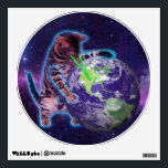 """Cat destroying the world with eye laser wall decal<br><div class=""""desc"""">cat, meme, &quot;world cat&quot;, &quot;space cat&quot;, &quot; into space&quot;, &quot; laser cat&quot;, &quot;purple cat&quot;, &quot;cat world&quot;, &quot;meme cat&quot;, &quot; in space&quot;, &quot; cat laser&quot;, &quot;cosmic cat&quot;, &quot;cat galaxy&quot;, &quot;cat laser eyes&quot;, &quot;cat purple&quot;, &quot;ray cat&quot;, &quot;cat ray&quot;, space, cats, galaxy, cool, funny, blue, light, laser, stars, cosmos, kittens, cute, ray, pet,...</div>"""