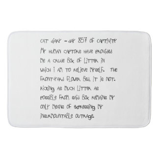 Cat Diary Bath Mat - Day 857