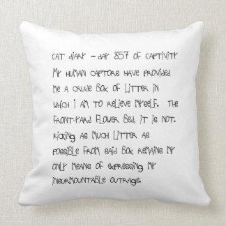 Cat Diary - Day 857 - Throw Pillow