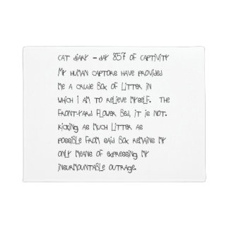 Cat Diary Doormat - Day 857
