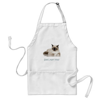 Cat: Did I Ask You? Adult Apron