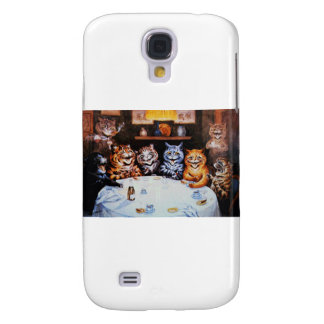 Cat Dinner Party Louis Wain Artwork Samsung Galaxy S4 Cover