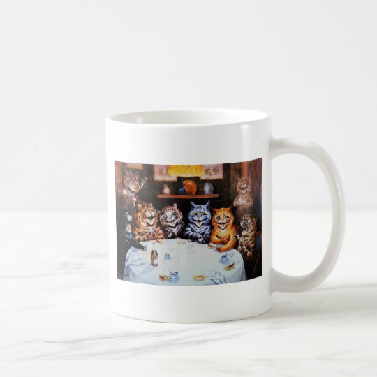 Cat Dinner Party Louis Wain Artwork Coffee Mug