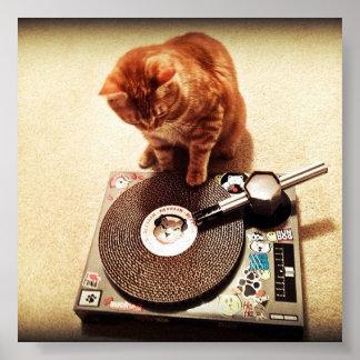 Cat DJ Posters