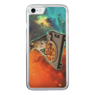 Cat dj with disc jockey's sound table carved iPhone 7 case