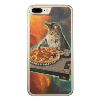 Cat dj with disc jockey's sound table carved iPhone 7 plus case