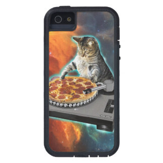Cat dj with disc jockey's sound table iPhone SE/5/5s case