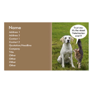 Cat & Dog Double-Sided Standard Business Cards (Pack Of 100)