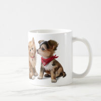 Cat & Dog Coffee Mug