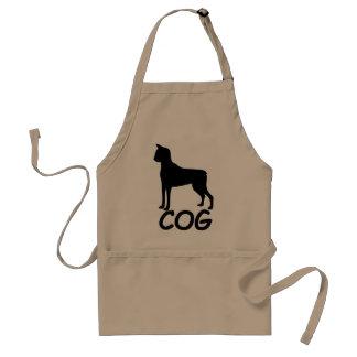 Cat + Dog = Cog Adult Apron
