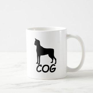 Cat + Dog = Cog Classic White Coffee Mug