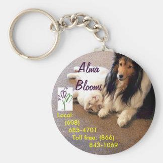 Cat & Dog Basic Round Button Keychain