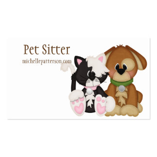 Cat & Dog Pet Sitter Business Cards Pack Of Standard Business Cards
