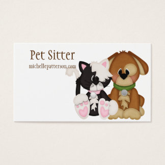 Cat & Dog Pet Sitter Business Cards