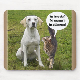 Cat & Dog talk Mouse Pad