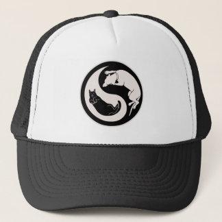 Cat-Dog Yin-Yang Trucker Hat