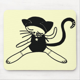 cat doll kitty mouse pad