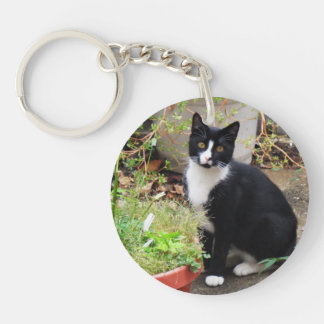 Cat Double-Sided Keychain - Version 05 Double-Sided Round Acrylic Keychain