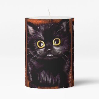 Cat Dracula Halloween Candle