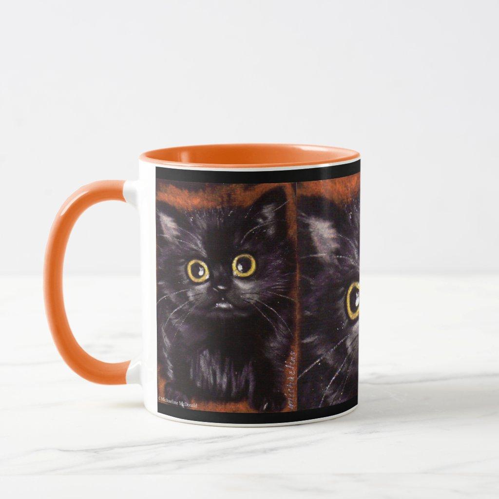 Cat Dracula Scaredy Cat Mug