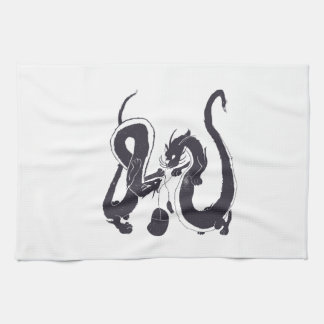 Cat dragons need to play with mice too hand towel