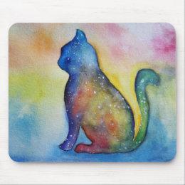 Cat drawing mousepad