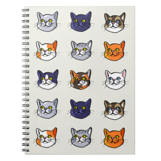 Cat Drawing Nine Different Breeds Notebook